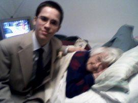 My nephew Greg and my Mom,.circa 3 years ago